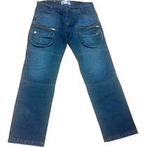 Pantalon Para Moto O Tiempo Libre Con Proteccion En Jeans