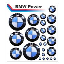 Adesivos Logo Bmw Resinados Kit 24 Adesivos Frete Grátis