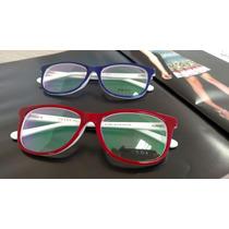 Armação Feminina Gatinho Pr18pv Óculos De Grau Vermelha