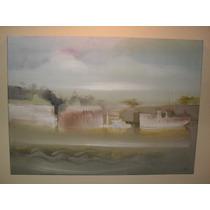Pintura Original En Oleo ( M.e.l. Parana De Las Palmas)
