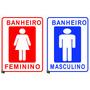 Placa Personalizada De Banheiro - Sinalização Imóveis (par)