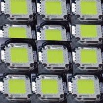Kit 10 Chip Led Reparo Reposição Refletor Spot 50w Lâmpada