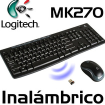 Combo De Teclado Y Mouse Inalambrico Logitech Mk270 Wireless