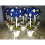 Centros De Mesa, Topiarios 25cm De Flores En Porcelana Fria