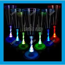 5 Copas Champagna Luminosa Led Multicolor Vaso Champañera