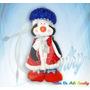 Muñecos Navideños Pinguina Elegante