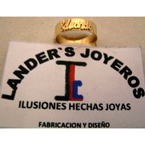 $1800 Anillo De Oro Con Grabado De Nombre