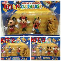Kit 4 Bonecos Turma Do Mickey Mouse - Donald Pluto Pateta