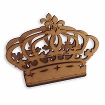 Porta Guardanapo Princesa Coroa Festa Mdf Cru De 3 Mm Ls002
