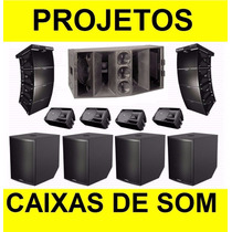 400 Projetos Caixas De Som. Sub Grave, Médio, Line, Brindes!