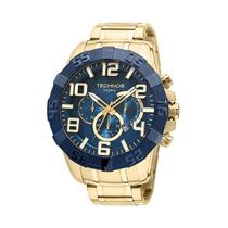 Relógio Technos Legacy Origina Os20iq/4a Dourado Fundo Azul