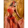 Mujer Bailarina Odalisca - Danza Y Baile - Lámina 45 X 30 Cm