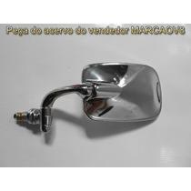 Espelhor Retrovisor Cromado Mexicano, Fusca, Brasilia, Esque