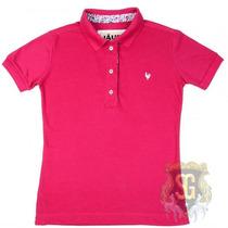 Camisa Polo Feminina Rosa Pink 6150 - Jaum Jaum