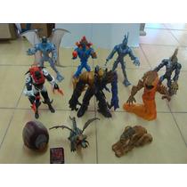 Coleção Com 9 Bonecos Inimigo Vilões Max Steel Figuries