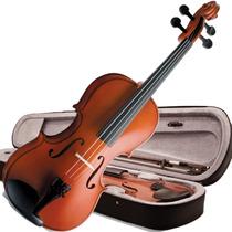 Violino 3/4 Vogga Von134 Crina Animal Estojo Breu Case
