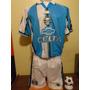 Camiseta + Short Gremio Brasil Kappa 2000 Ronaldinho 10 T. L