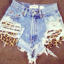 Short Jeans Customizado Detonado Destroyed Hot Pant Oncinha