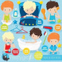 Kit Imprimible Aseo Personal 4 Imagenes Clipart