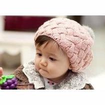 Touca / Gorro Infantil De Lã Para Crianças E Bebês.