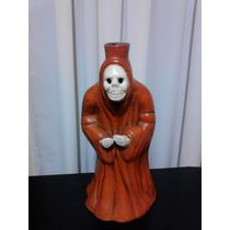 Dia De Muertos Halloween / Barro Portavelas / Figura Adorno