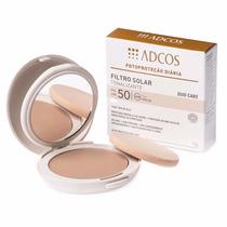 Protetor Filtro Solar Tonalizante Duo Cake Fps 50 Peach Adco