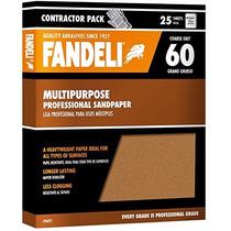 25 Pack De Lija Fandeli Multiproposito Grano 60 - 100 O 220