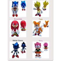 Coleção Action Figure Sonic -com 6 Bonecos *pronta Entrega*