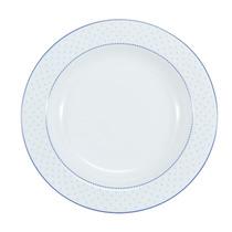 Prato Fundo Maitê Schmidt Porcelana Azul Bolinha Ø23cm