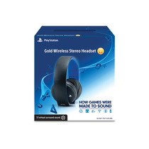 Headset Gold 7.1 Wireless Stereo Original Sony Ps4 Ps3 Pc