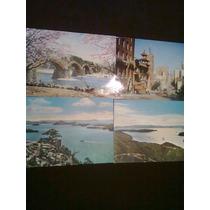 Lote Postales Antiguas Japón Y Usa 4 De Elas 2 Con Timbres