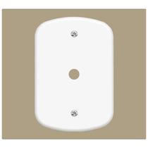 Espelho Cego Tomada Antena Com Furo - 224 4x2