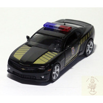 Miniatura Chevrolet Camaro Policia Federal 2010 1:32 Preto