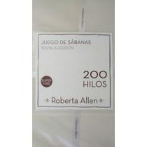 Juego Sabanas Roberta Allen - 200 Hilos - Super King - 2mx2m