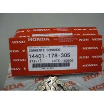 Corrente Comando Original Honda Biz 100 + Kit Tensor 3 Peças