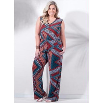 Roupa Feminina Plus Size - Macacao Blusa / Calça Liganete