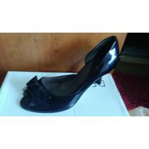 Lindos Zapatos Negros Charol Calandre 37