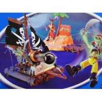 Cenario Ilha Jangada Canhão Coqueiro Piratas Capitão Gancho