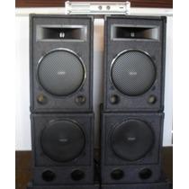 Combo Profesional De Sonido 2400w Mas Potencia Apx600 Oferta