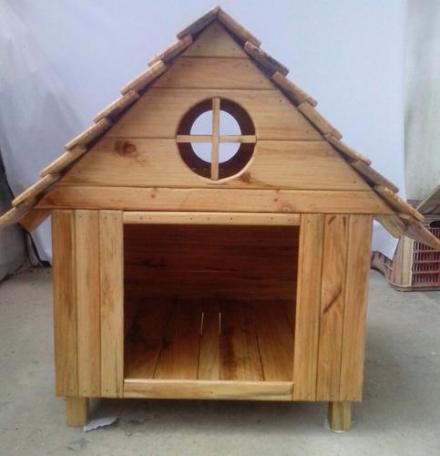 Casas para perros en madera totalmente lavables for Casas para perros