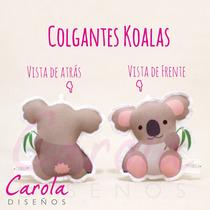 Souvenirs Koalas De Tela Nacimientos Cumpleaños Babyshower +