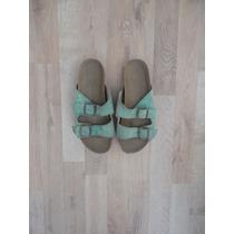 Sandalias Verdes Aqua Tipo Birkenstock