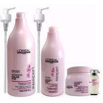 Shampoo + Ac. + Máscara + Ampolla Vitamino Color - Loreal