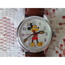 Reloj Mickey Mouse Swiss Movt Genova Cuerda 70