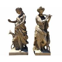Escultura Italiana Em Pedra Esculpidas A Mão