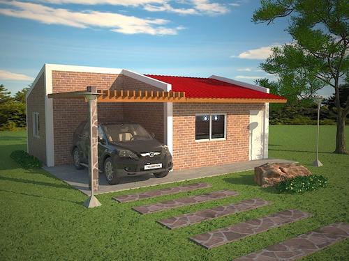 Casa ladrillo material construccion prefabricada venta en mercado libre - Casas ladrillo visto ...