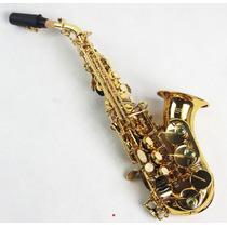 Saxofone Soprano Curvo Bb Sib Custom Laqueado