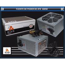 Fuente De Poder Atx 600w Hive