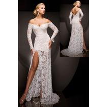 Promoção Vestido Noiva Espanhola Renda Super Fenda Medida