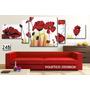 Oferta!! Cuadro Poliptico 215x80 - Flores Decorativo Moderno